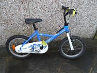"""Childs 18"""" wheel bicycle"""