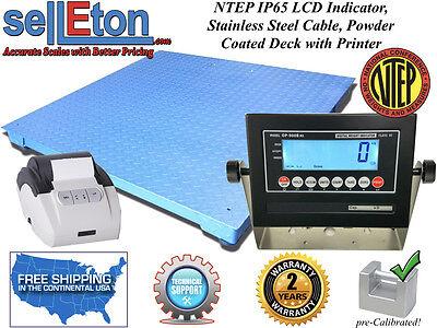 Ntep Legal 60 X 60 Floor Scale Industrial Digital Printer 5000 X 1 Lb