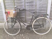 Ladies Black Vintage 1980's Ladies Dutch Bike w Brookes saddle