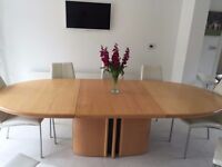 8 Seater Birch Extending Dinning Table - Made by Skovby