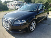 2008/58 Audi A3 Tdi Sportback, black, 89k, FSH, new MOT, excellent throughout, 3 months warranty