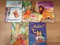 Disney Books Hardbacks. Winnie the Pooh Aladdin Lion King