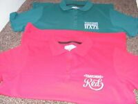 2 New Polo Shirts Advertising Thatchers Cider. Size M (Price Is For Both But Can Sell Seperate).