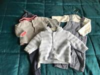 0-3 mths M&S/Mothercare outfits and coat bundle