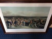 Framed Print and Key Plate of the Grand Match at St Andrews in 1850
