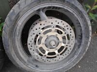 Honda Motorcycle CBR 600 Front and Rear Wheels (inc. tyres) for sale