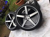 "20"" 5x120 alloy wheels and tyres mw t5 t6 Land Rover"