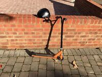Child's Unisex BMX trick scooter and helmet for sale £15