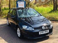 2013 Volkswagen MK7 Golf 1.6 TDI Manual BlueMotion Technology SE 5DR Black £0 road tax! Full History