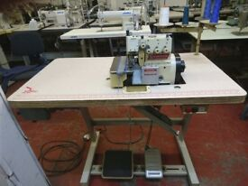 Used Yamato A26020H 2 Needle 4 Thread Overlock Machine For General Seaming Complete Stand & Motor
