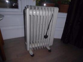 De Longhi Portable Radiator Heater 2KW Thermostat Timer Excellent