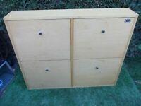 4 Draw shoe Storage Cabinet shelves