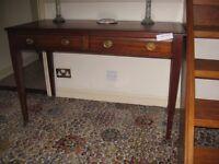 solid mahogany writing desk