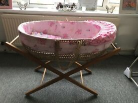 Baby Crib and Moses Basket for SALE