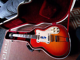 Kay Thin Twin Vintage Reissue by Roger Fritz Thin Twin Cherry Sunburst