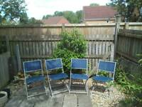 FOUR STRONG GARDEN CHAIRS