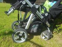 Icandy pear double/single pram