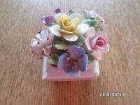 Royal Daulton bone china flower basket/posy