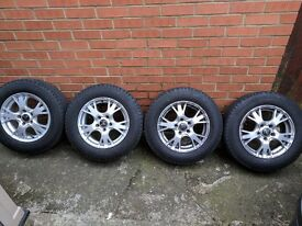Vw T4 alloys 5x112 diamond alloy wheels and tyres x4 16inch