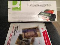 A4 Laminator and 90+ Laminating Pouches