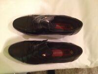 Mens - Cubian Heel Shoes Black (New)