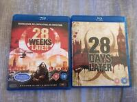 28 Days & 28 Weeks Later Bluray DVD's