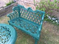 Cast iron garden bench( white or green )