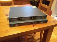 Cisco 2924 and 3550 layer2 switches.