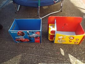 2 Childrens Toy Boxes, Perfect For Upcycling