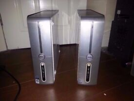 2 X Dell Inspiron 530s slim PC's (HARD DRIVES REMOVED)
