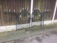 Galvanised Garden Gates / Double Matching Gates