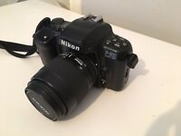 Nikon F-601 Quartz Date 35mm SLR Camera and lense
