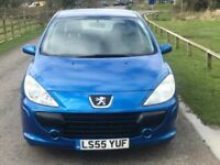 PEUGEOT 307 Blue 12 Months Clean MOT SELLING CHEAP TO CLEAR £885