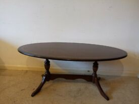Vintage Reproduction Regency Style Mahogany Oval Coffee table Delivery Available