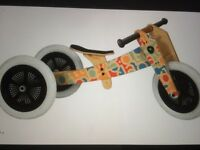Child's Wishbone Balance Bike, 3-in-1, suit boy or girl from 12 months to 5 years