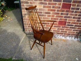 Ercol 60s Goldsmith carver dining chair
