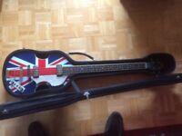 Hofner Jubilee Violin Bass Guitar HCT, Limited Edition Jubilee Union Jack, Paul McCartney Beatles