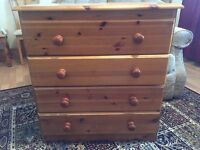* 2 Solid Pine Chest of Draws*Good Condition*