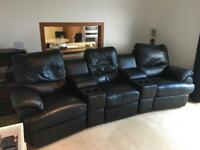 Home Cinema / Man Cave Leather Recliner Sofa