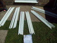 argos hexagon 4m gazebo full set of poles only replacement parts - no connectors