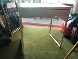 Ikea micke white desk with drawer