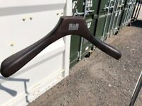 Wooden Clothing/Coat Hangers - Very High Quality/Solid Dark Wood - £5 for 10 (Selling Very Cheap)