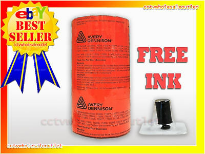 Genuine Monarch 1136 Fluorescent Red Labels 8 Rolls