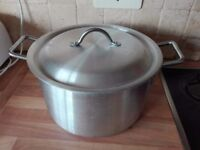 Large steel pot with lid 32x18cm