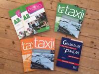 French language learning textbooks.