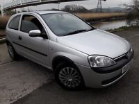 03 REG CORSA WITH 12 MONTHS MOT..1.0ENGINE WILL BE GREAT FOR FIRST CAR... LOW INSURANCE...CHEAP RUN