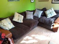 Brown corner Sofa - FREE