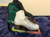 Size 6 ladies leather ice skates