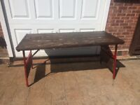 Heavy Duty Trestle Table - Very Sturdy - Excellent Quality