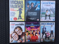 6 Comedy DVDs - Used but very good condition